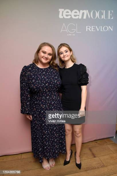 Danielle Macdonald and Millicent Simmonds attend Teen Vogue Celebrates Young Hollywood 2020 at San Vicente Bungalows on February 05 2020 in West...