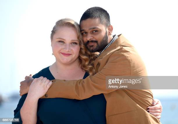 Danielle Macdonald and Siddharth Dhananjay attend the 'Patti Cake$' Photocall during the 70th annual Cannes Film Festival at Palais des Festivals on...