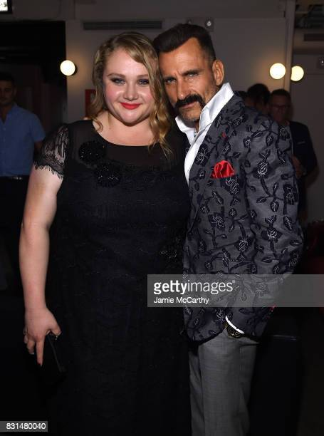 Danielle Macdonald and Wass Stevens attend 'Patti Cake$' New York After Party at The Metrograph on August 14 2017 in New York City