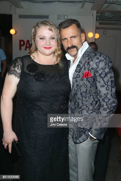 Danielle MacDonald and Wass Stevens attend the after party for the New York premiere of 'Pattii Cake$' at Metrograph on August 14 2017 in New York...