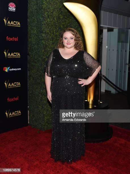 Danielle Macdonald arrives at the 8th AACTA International Awards at Mondrian Los Angeles on January 04 2019 in West Hollywood California