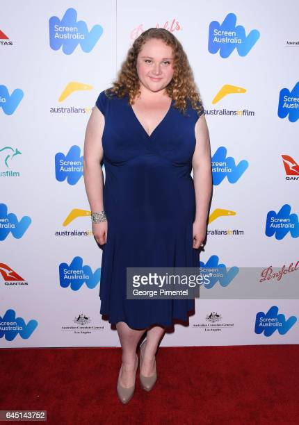 Danielle Macdonald attends the Australian Oscar Nominees reception at Four Seasons Hotel Los Angeles at Beverly Hills on February 24 2017 in Los...
