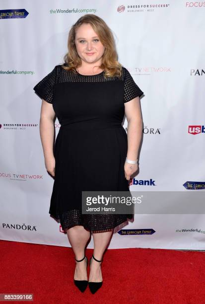 Danielle Macdonald attends the Dress For Success WorldwideWest Seventh Annual Shop For Success Vip Event In Los Angeles on November 30 2017 in Los...