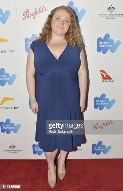 Danielle Macdonald attends the Screen Australia and Australians in Film reception for Australian Oscar nominees at Four Seasons Hotel Los Angeles at...