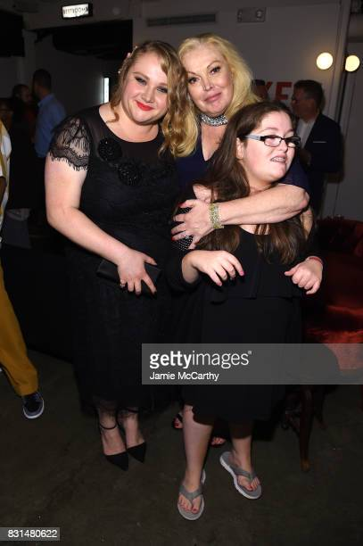 Danielle Macdonald Cathy Moriarty and Annabella Rose Gentile attend 'Patti Cake$' New York After Party at The Metrograph on August 14 2017 in New...