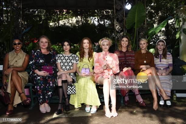 Danielle Macdonald, Emma Roberts, Sadie Sink, Julia Garner, Katherine Schwarzenegger, Julia Schlaepfer and Emma Nelson attend the Kate Spade New York...