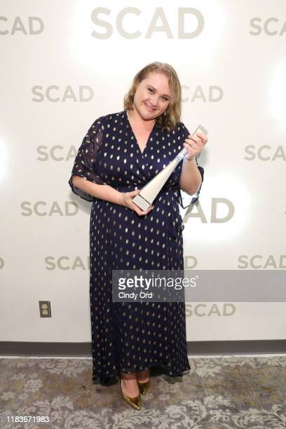 Danielle Macdonald is presented with the Rising Star Award during the 22nd SCAD Savannah Film Festival on October 26, 2019 at Trustees Theater in...