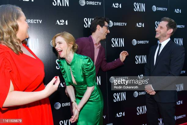 Danielle Macdonald Jaime Ray Newman Guy Nattiv and Jamie Bell attend LA special screening of A24's Skin at ArcLight Hollywood on July 11 2019 in...
