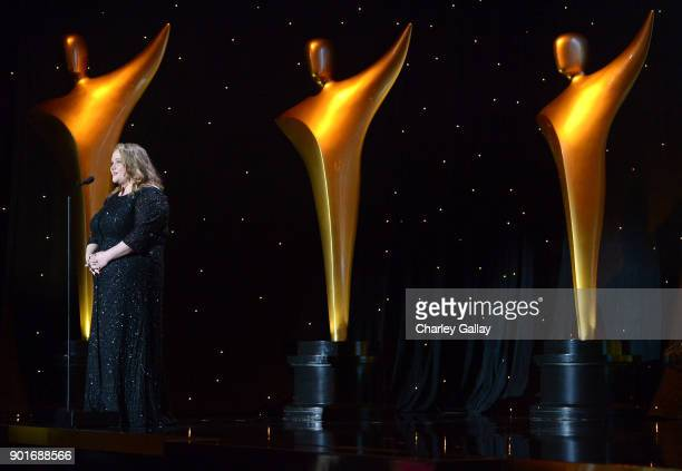 Danielle MacDonald speaks onstage at the 7th AACTA International Awards at Avalon Hollywood in Los Angeles on January 5 2018 in Hollywood California