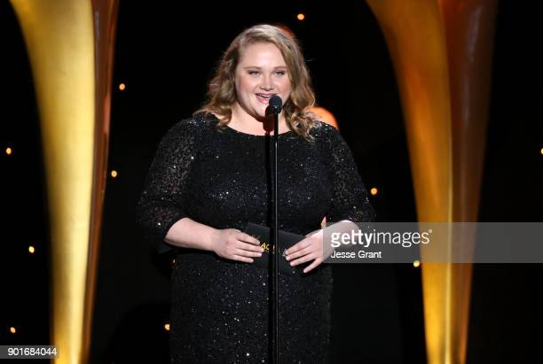 Danielle MacDonald speaks onstagethe 7th AACTA International Awards at Avalon Hollywood in Los Angeles on January 5 2018 in Hollywood California