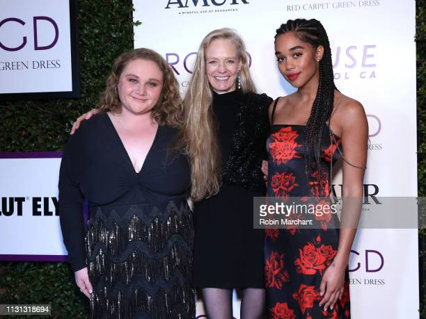 Danielle Macdonald, Suzy Amis Cameron and Laura Harrier attends Suzy Amis Cameron's 10-Year Anniversary Of RCGD Celebration on February 21, 2019 in...
