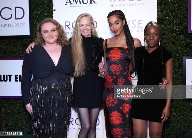Danielle Macdonald, Suzy Amis Cameron, Laura Harrier and Samata Pattinson attend Suzy Amis Cameron's 10-Year Anniversary Of RCGD Celebration on...