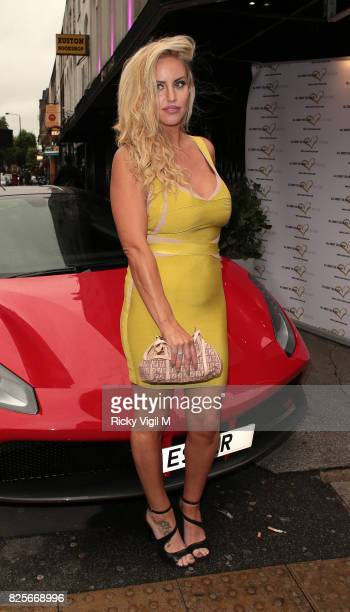 Danielle Mason attends Ester Dee All About the Beach launch party at The Directors Party Lounge on August 2 2017 in London England