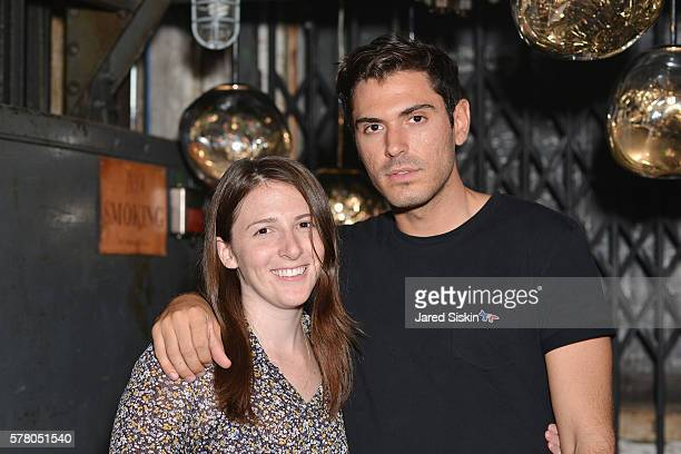 Danielle McCarthy and Joey Zauzig attend Tom Dixon Celebrates New Store with Howard Street Party at The Shop New York on July 19 2016 in New York City