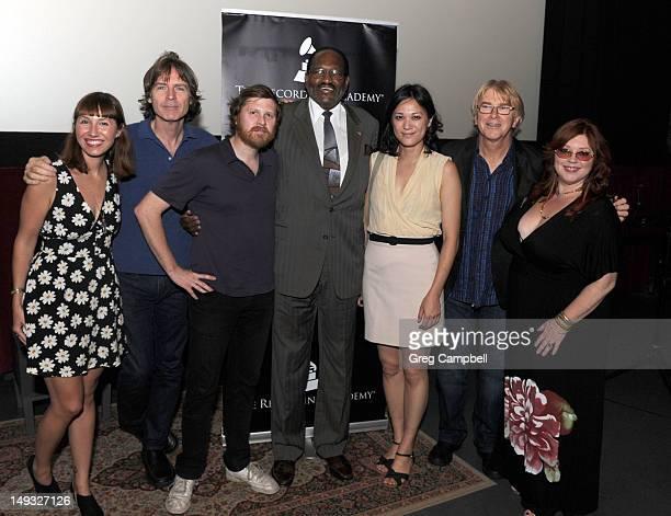 Danielle McCarthy Jody Stephens Drew DeNicola Al Bell Olivia Mori Jon Hornyak and Susan Marshall attends Big Star Documentary Film Screening...