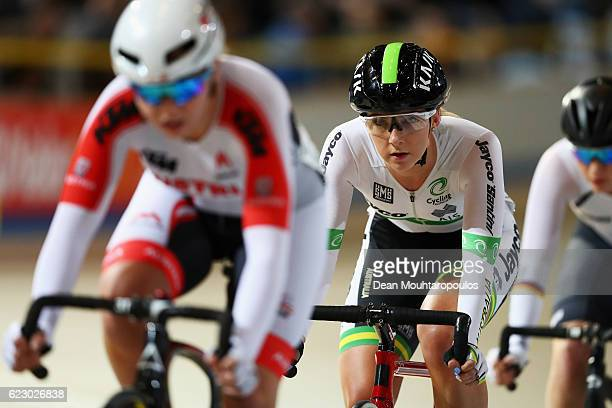 Danielle McKinnirey of Australia competes in the Women's Points Race Final during the Tissot UCI Track Cycling World Cup 20162017 held at the sport...