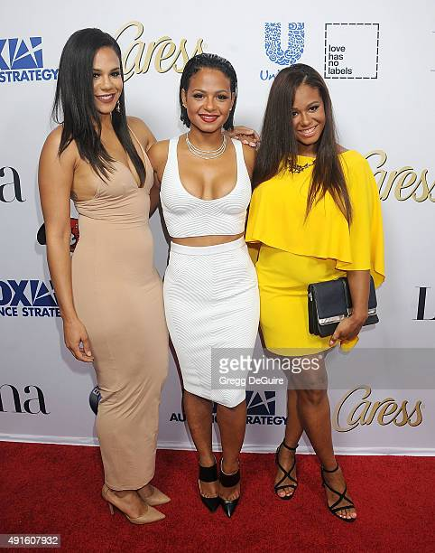 """Danielle Milian, Christina Milian and Liz Milian arrive at the Latina """"Hot List"""" Party at The London West Hollywood on October 6, 2015 in West..."""