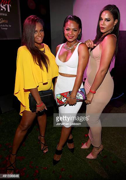 """Danielle Milian, Christina Milian and Liz Milian attend the Latina """"Hot List"""" Party hosted by Latina Media Ventures at The London West Hollywood on..."""