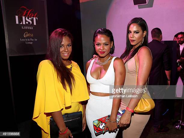 Danielle Milian Christina Milian and Liz Milian attend the Latina Hot List Party hosted by Latina Media Ventures at The London West Hollywood on...