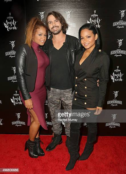 Danielle Milian Richard Flores and Host Christina Milian attend Gran Centenario Tequila presents Angels On Earth at the Sunset Tower on November 11...