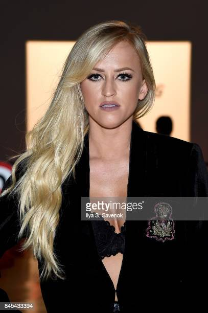 Danielle Moinet attends Jarel Zhang fashion show during New York Fashion Week The Shows at Gallery 3 Skylight Clarkson Sq on September 10 2017 in New...