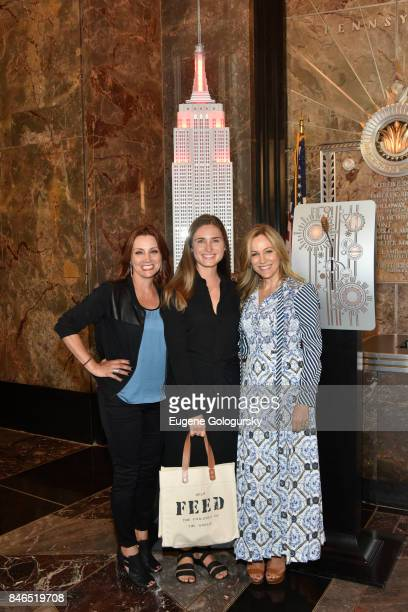 Danielle Monaro Lauren Bush Lauren and Laura FrererSchmidt Celebrate Run 10 Feed 10 At The Empire State Building at The Empire State Building on...