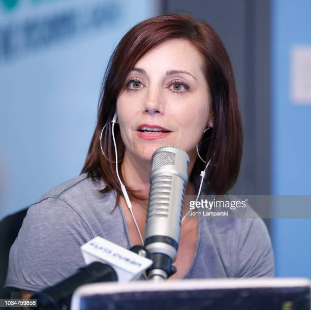 Danielle Monaro speaks as cohost Medha Gandhi joins The Elvis Duran Z100 Morning Show at Z100 Studio on September 17 2018 in New York City