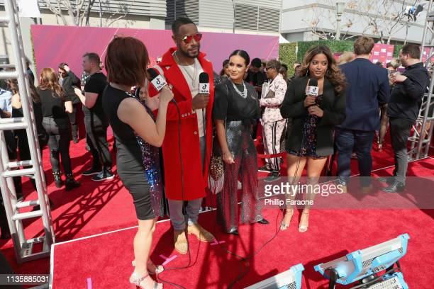 Danielle Monaro Tank Zena Foster and Medha Gandhi attend the 2019 iHeartRadio Music Awards which broadcasted live on FOX at Microsoft Theater on...
