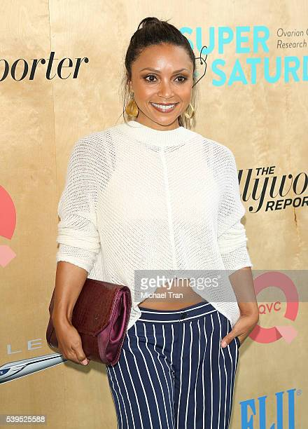 Danielle Nicolet arrives at the Ovarian Cancer Research Fund Alliance's 3rd Annual Super Saturday Los Angeles held at Barker Hangar on June 11 2016...