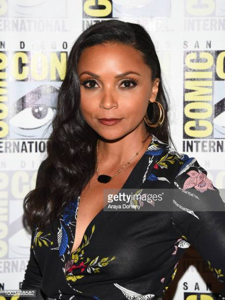 Danielle Nicolet attends the press line for The Flash during ComicCon International 2018 at Hilton Bayfront on July 21 2018 in San Diego California