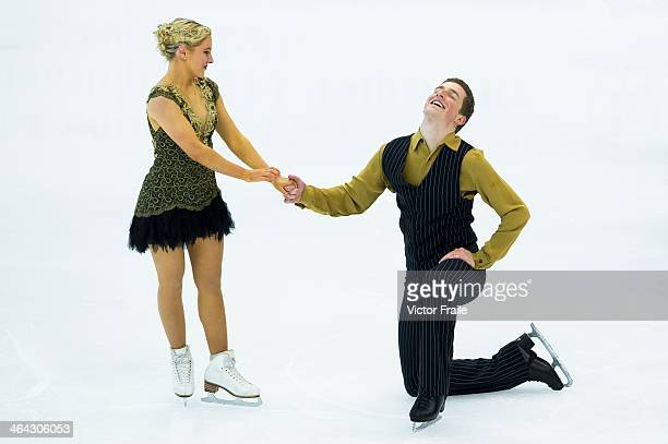Danielle Obrien and Gregory Marriman of Australia compete in the Ice Dance Short Dance event during the Four Continents Figure Skating Championships...