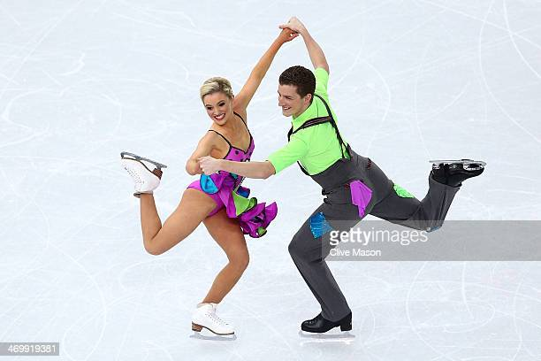 Danielle O'Brien and Gregory Merriman of Australia compete in the Figure Skating Ice Dance Free Dance on Day 10 of the Sochi 2014 Winter Olympics at...