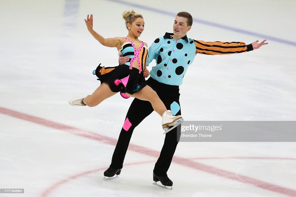 Danielle O'Brien and Gregory Merriman of Australia competes in the Senior Free Dance during Skate Down Under at Canterbury Olympic Ice Rink on August 22, 2013 in Sydney, Australia.