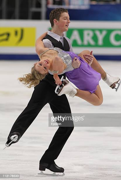 Danielle O'Brien and Gregory Merriman of Australia skate in the preliminary round ice dance free dance during day three of the 2011 World Figure...