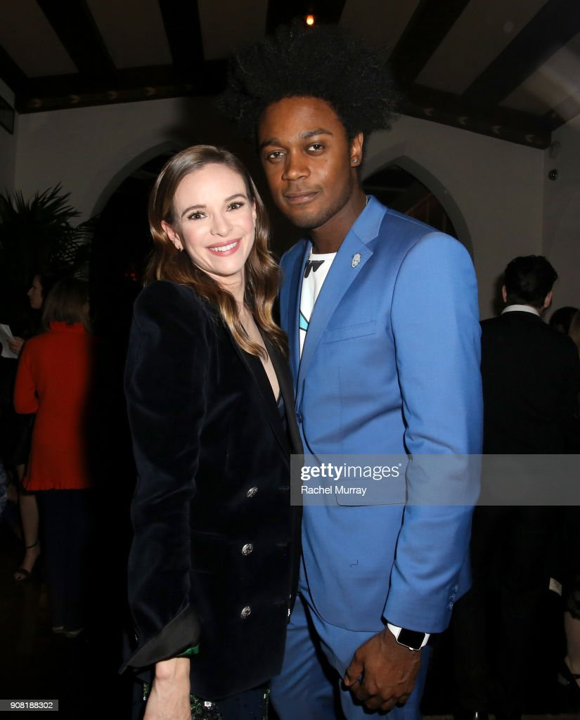 Danielle Panabaker and Echo Kellum attend Entertainment Weekly's Screen Actors Guild Award Nominees Celebration sponsored by Maybelline New York at Chateau Marmont on January 20, 2018 in Los Angeles, California.