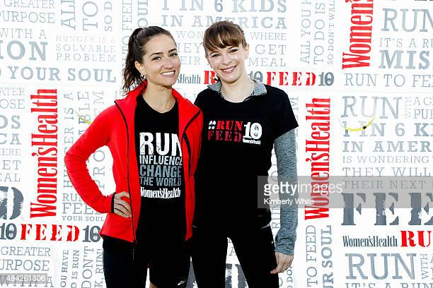 Danielle Panabaker and Jen Ator at the Women's Health RUN10 FEED10 Charity Race at Crissy Field on October 25 2015 in San Francisco California