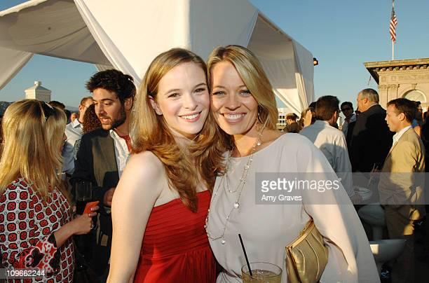 Danielle Panabaker and Jeri Ryan attend the Producers and Stars Toast Party Hosted by Dana Walden and Gary Newman on July 18 2007 in Beverly Hills...