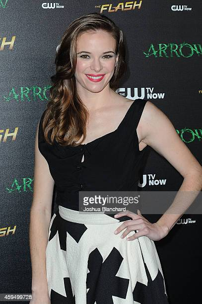 Danielle Panabaker arrives at a special screening for the CW's Arrow And The Flash at Crest Theatre on November 22 2014 in Westwood California
