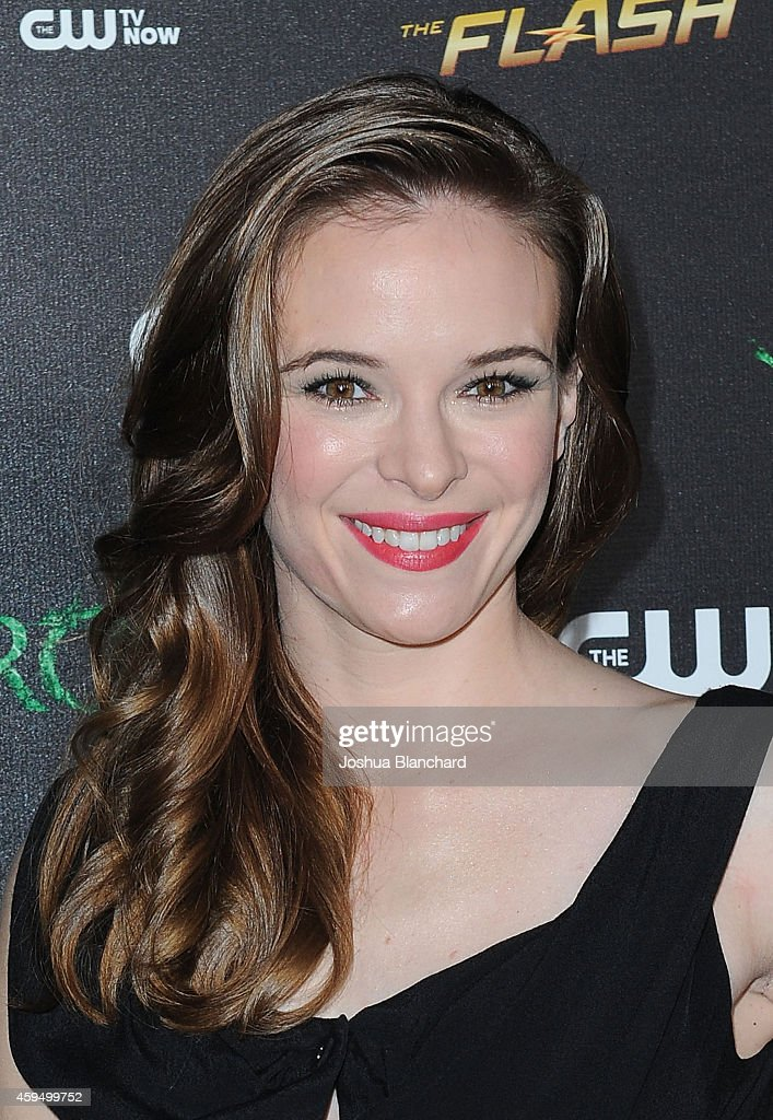 Danielle Panabaker arrives at a special screening for the CW's 'Arrow' And 'The Flash' at Crest Theatre on November 22, 2014 in Westwood, California.