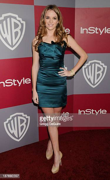 Danielle Panabaker arrives sat the 12th Annual Warner Bros and Instyle PostGolden Globe Party at the Beverly Hilton Hotel on January 16 2011 in...