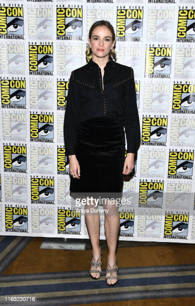 """Danielle Panabaker attends 2019 Comic-Con International - Day 3 """"The Flash"""" press line on July 20, 2019 in San Diego, California."""