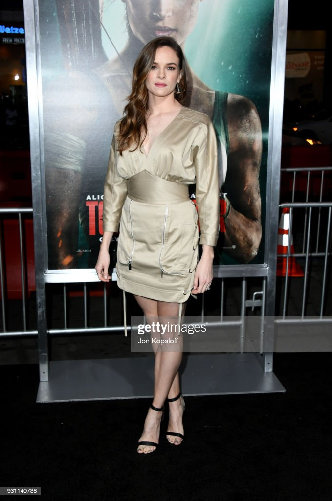 Danielle Panabaker attends the premiere of Warner Bros. Pictures' 'Tomb Raider' at TCL Chinese Theatre on March 12, 2018 in Hollywood, California.