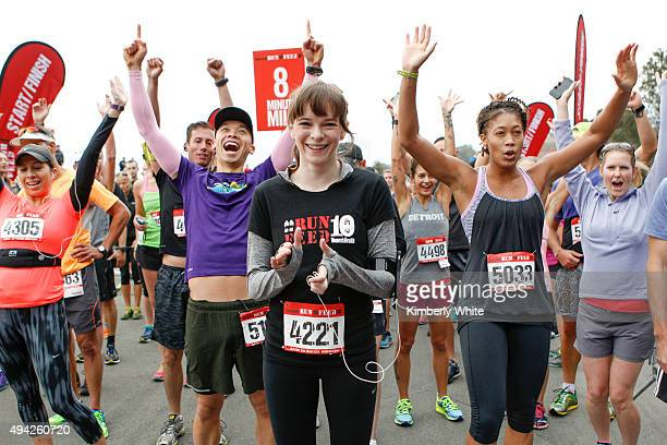 Danielle Panabaker hosts the Women's Health RUN10 FEED10 Charity Race at Crissy Field on October 25, 2015 in San Francisco, California.