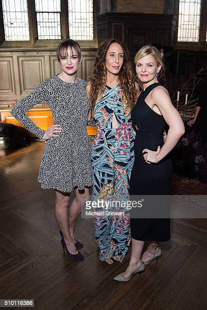 Danielle Panabaker Mara Hoffman and Jennifer Morrison attend the Mara Hoffman Fall 2016 presentation during New York Fashion Week at Hoffman Hall The...