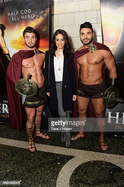 Danielle Peazer attends a VIP screening of 'The Legend Of Hercules' at The Courthouse Hotel on March 25 2014 in London England