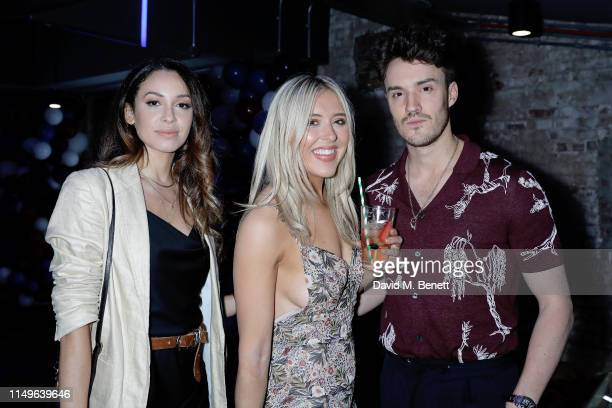 Danielle Peazer Em Sheldon and James Stewart attend KOBOX New Flagship studio launch party on King's Road on May 16 2019 in London England