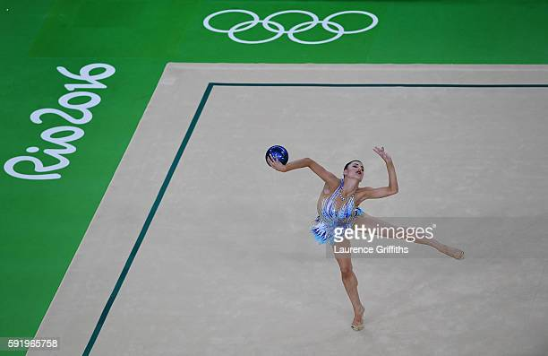 Danielle Prince of Australia competes during the Rhythmic Gymnastics Individual AllAround on August 19 2016 at Rio Olympic Arena in Rio de Janeiro...