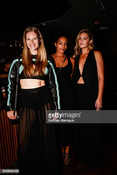 Danielle RedmanAmber Tolliver and Georgina Burke at the MADE New York Celebrates Fashion Week on September 14 2016 in New York City