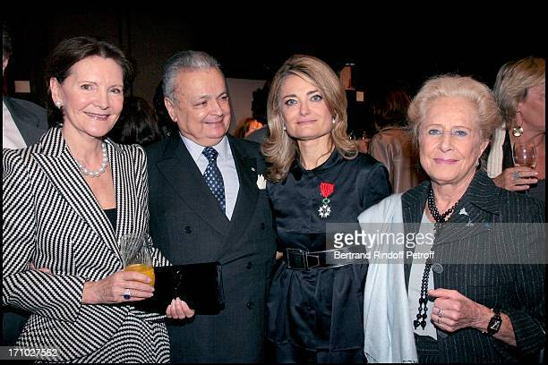 Danielle Ricard Maurice Segoura and daughter Florence of Botton and Mrs Serge Dassault Florence of Botton is made knight in the Order of Legion of...