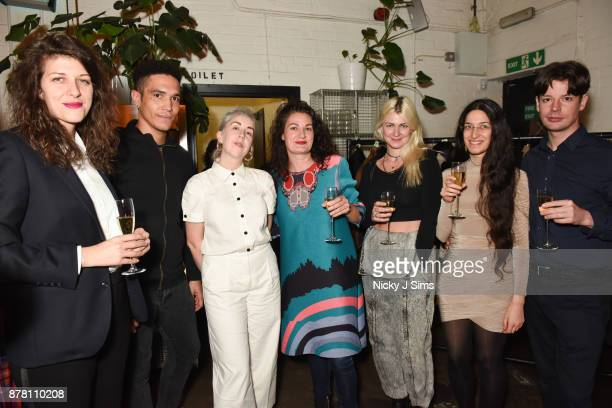 Danielle RollsBentley Wilde Otto Burnham Gemma RollsBentley Wilde Kate McMillan Hannah Perry Jala Wahid and Stephen Draycott attend Her Stories...
